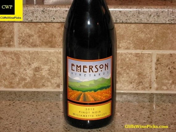 2012 Emerson Vineyards Pinot Noir