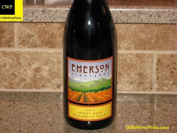 2012 Emerson Vineyards Pinot Noir