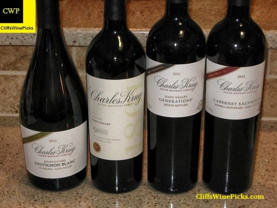 Charles Krug Winery tasting line up