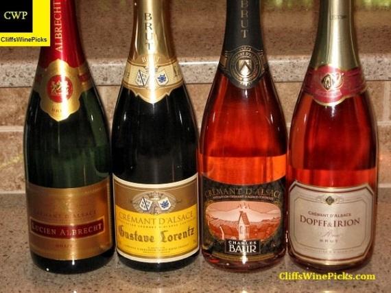 Cremant d'Alsace Sparkling Wines line up