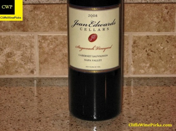 2008 Jean Edwards Cellars Cabernet Sauvignon Stagecoach Vineyard