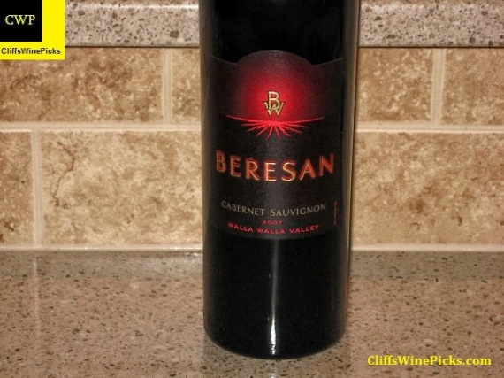 2007 Beresan Winery Cabernet Sauvignon Walla Walla Valley
