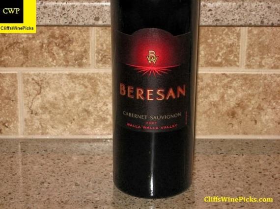 2007 Beresan Winery Cabernet Sauvignon Walla Walla Valley