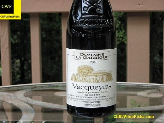 2010 Domaine La Garrigue Vacqueyras