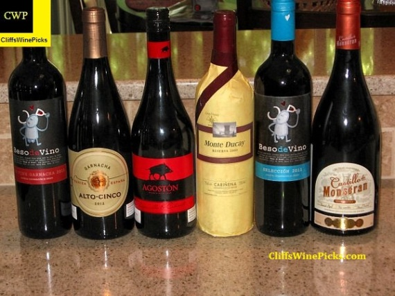 Line up for Carinena Roundtable Tasting