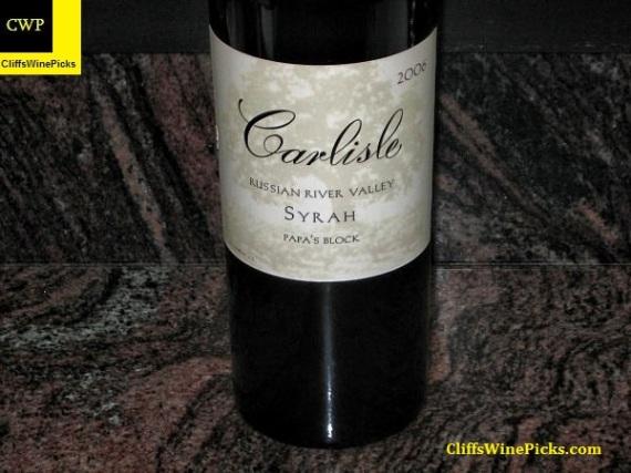 2006 Carlisle Syrah Papa's Block
