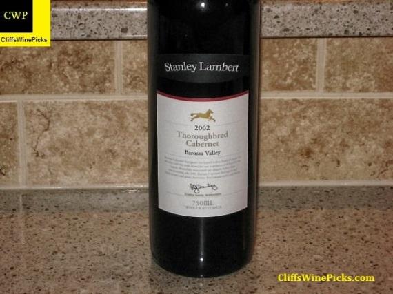 2002 Stanley Lambert Cabernet Sauvignon Thoroughbred