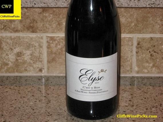 2010 Elyse C'est Si Bon Naggiar Vineyard