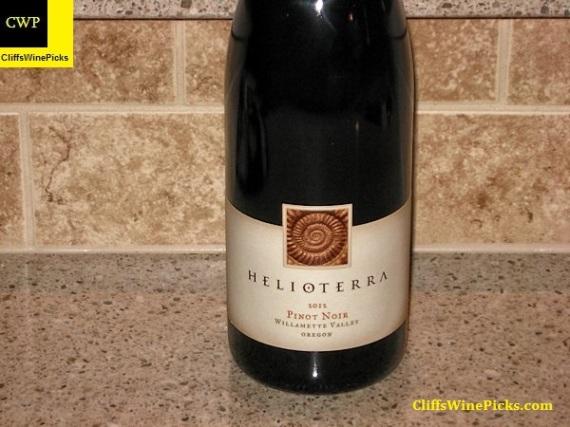 2012 Helioterra Pinot Noir Willamette Valley