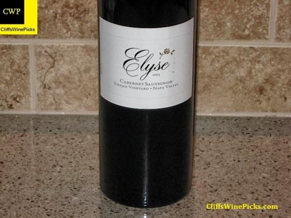 2003 Elyse Cabernet Sauvignon Tietjen Vineyard