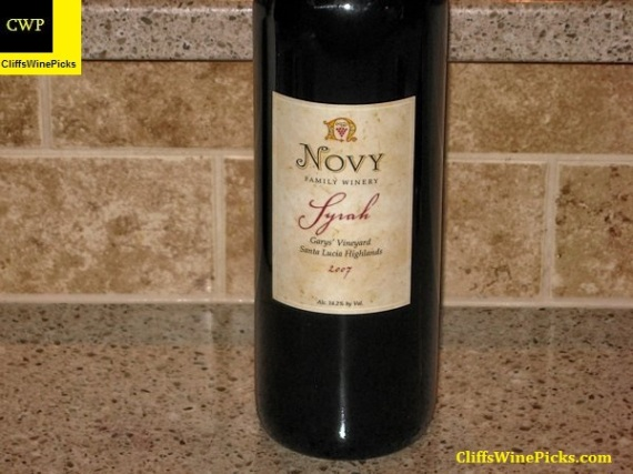 2007 Novy Family Wines Syrah Garys' Vineyard
