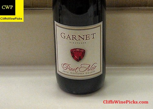 2012 Garnet Pinot Noir Monterey County Pinot Noir