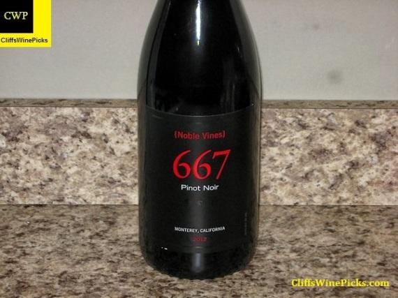 2012 Noble Vines Pinot Noir 667 Monterey