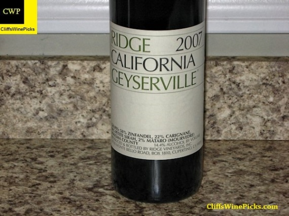 2007 Ridge Geyserville