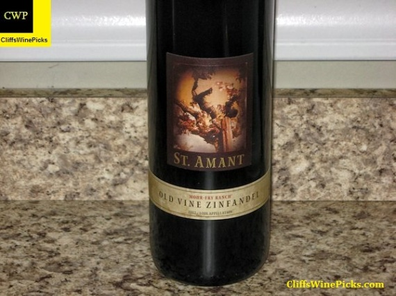 2012 St. Amant Winery Zinfandel Old Vines Mohr-Fry Ranch Vineyard