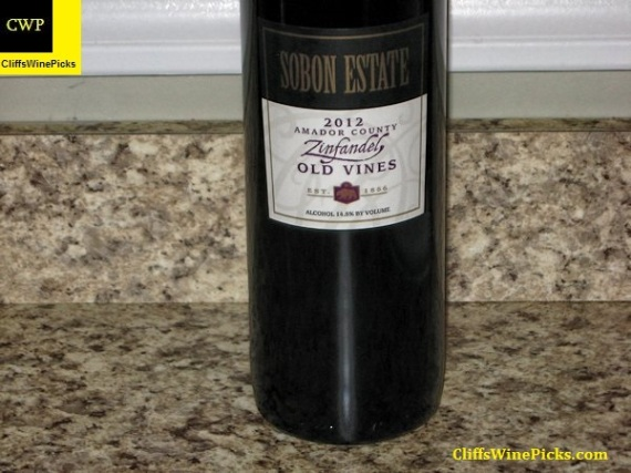 2012 Sobon Estate Zinfandel Old Vines