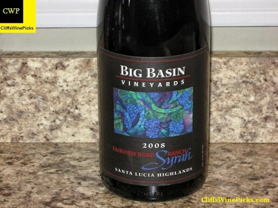 2008 Big Basin Vineyards Syrah Fairview Ranch