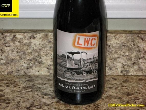 2012 Loring Wine Company Grenache Russell Family Vineyard
