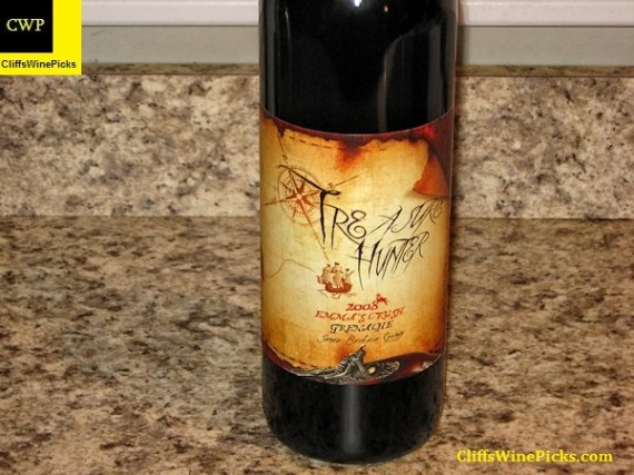2008 Treasure Hunter Wines Grenache Emma's Crush Santa Barbara County