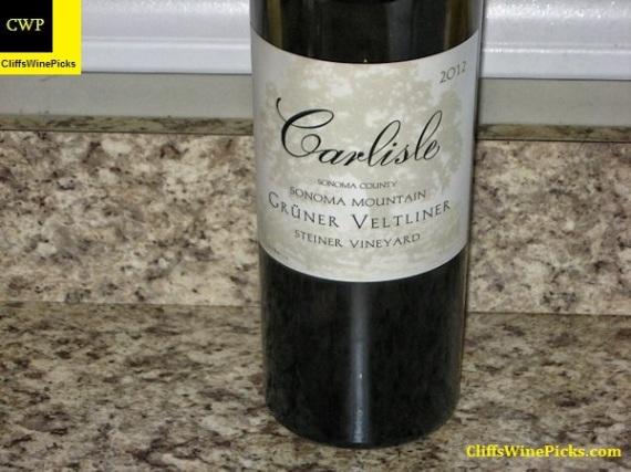2012 Carlisle Grüner Veltliner Steiner Vineyard