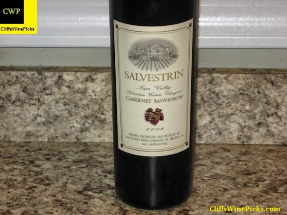 2004 Salvestrin Cabernet Sauvignon Salvestrin Estate Vineyard