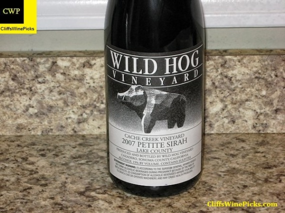 2007 Wild Hog Vineyard Petite Sirah Cache Creek