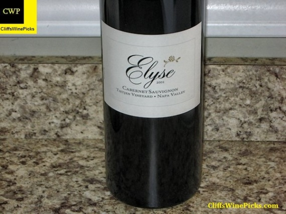 2001 Elyse Cabernet Sauvignon Tietjen Vineyard