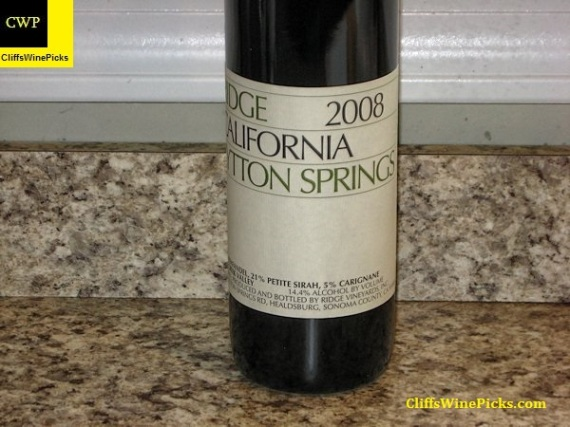 2008 Ridge Lytton Springs