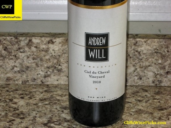 2010 Andrew Will Ciel du Cheval Vineyard