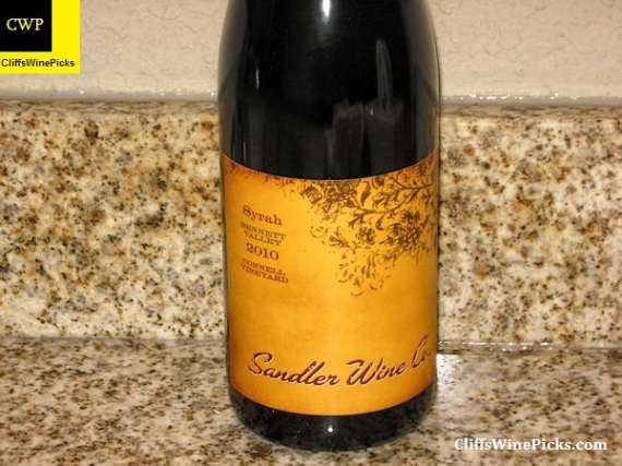 2010 Sandler Wine Company Syrah Connell Vineyard