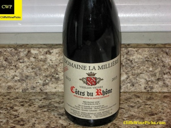 2013 Domaine La Millière Côtes du Rhône Cuvée Unique Vieilles Vignes
