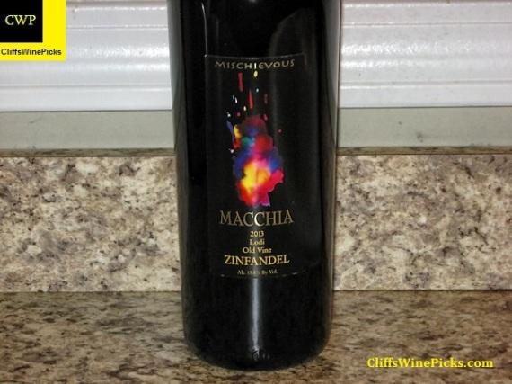 2013 Macchia Zinfandel Mischievous Old Vine