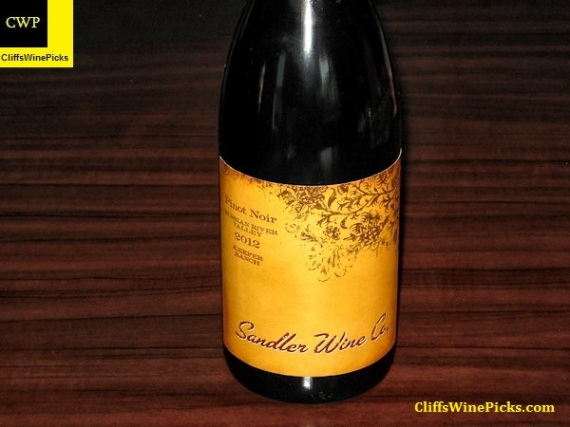 2012 Sandler Wine Company Pinot Noir Keefer Ranch