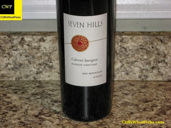 2007 Seven Hills Cabernet Sauvignon Klipsun Vineyard