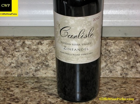 2010 Carlisle Zinfandel Martinelli Road Vineyard