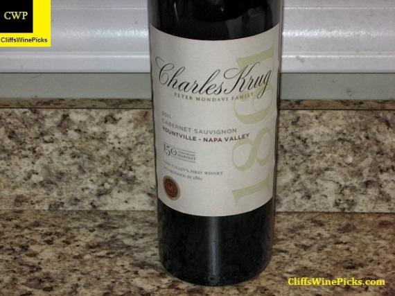 2011 Charles Krug Winery Cabernet Sauvignon 150th Anniversary