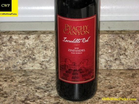 2012 Peachy Canyon Zinfandel Incredible Red