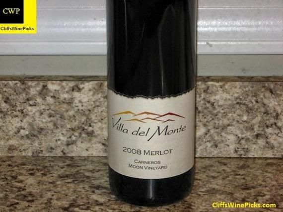 2008 Villa del Monte Merlot Moon Vineyard