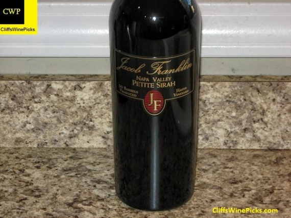 2010 Jacob Franklin Petite Sirah Hayne Vineyard