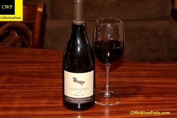 2012 Sojourn Pinot Noir Rodgers Creek Vineyard Sonoma Coast