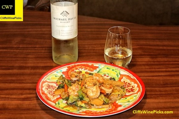 Shrimp Stir-fry with Michael-David Sauvignon Blanc