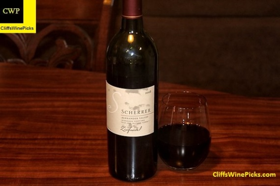 2008 Scherrer Winery Zinfandel Old and Mature Vines Alexander Valley