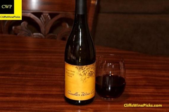 2012 Sandler Wine Company Pinot Noir Santa Lucia Highlands