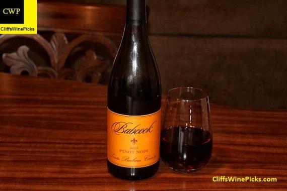 2013 Babcock Pinot Noir Santa Barbara County
