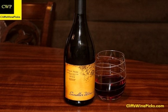 2012 Sandler Wine Company Pinot Noir Keefer Ranch